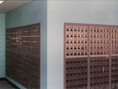 Post Office Renovation - new PO Boxes installed
