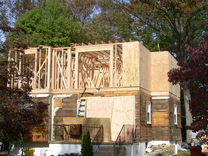 Builtmark llc residential and commercial contracting for Framing a second floor addition